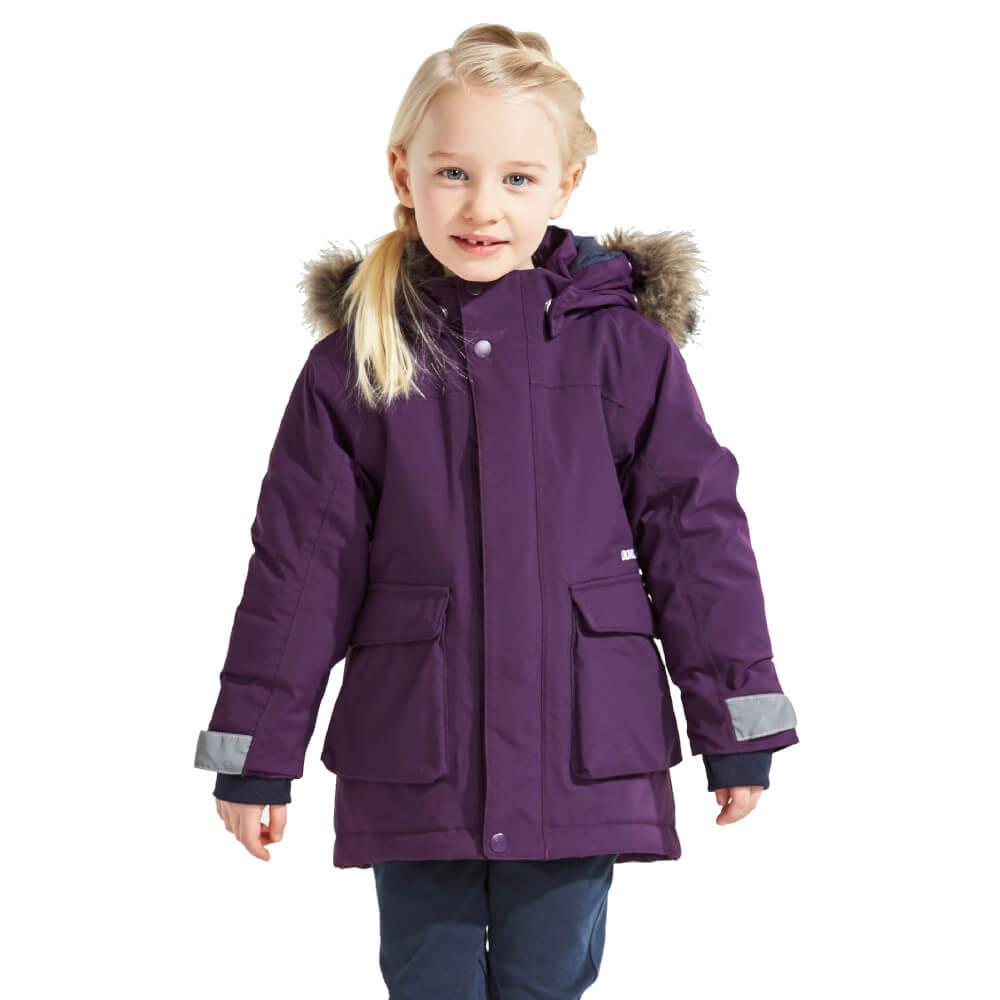4e6f4b36fe Didriksons Kure Kids Parka Berry Purple