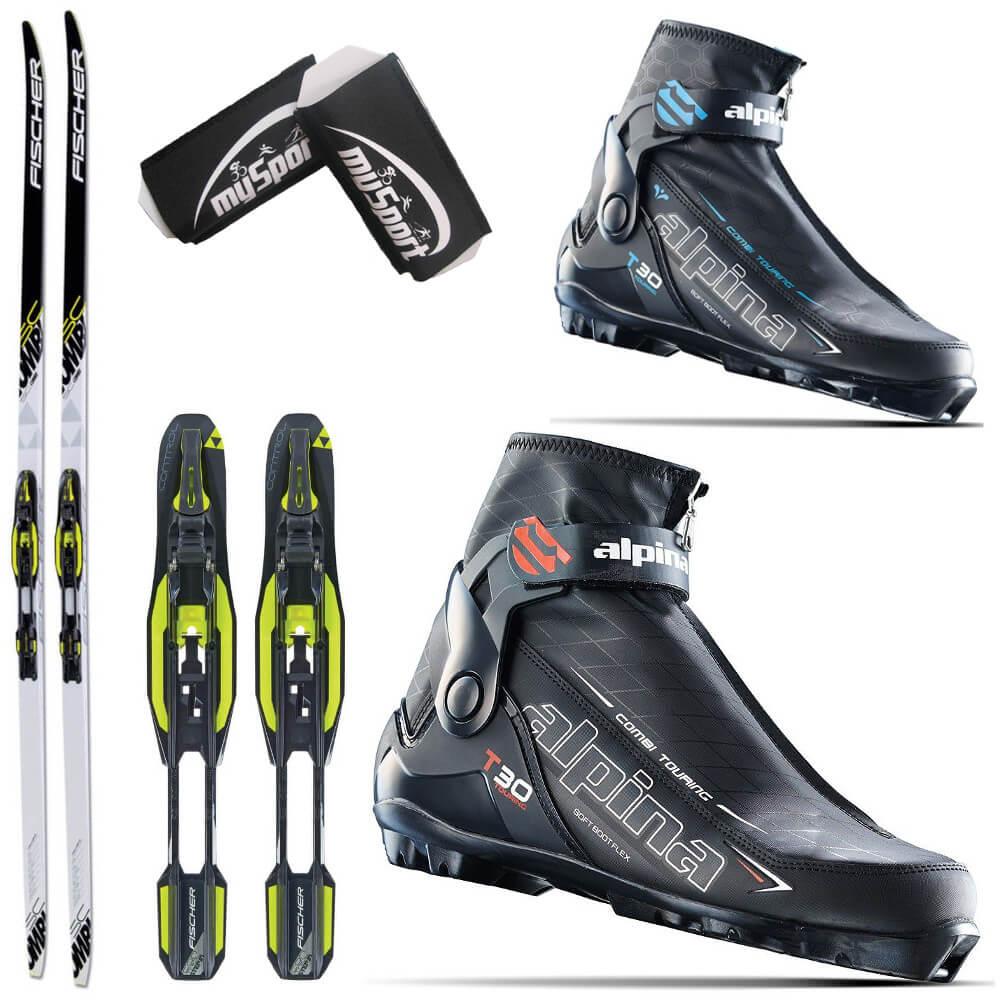 Cross Country Ski Set Fischer SC Combi Alpina T - Alpina combi boots