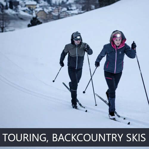 Touring, Backcountry skis