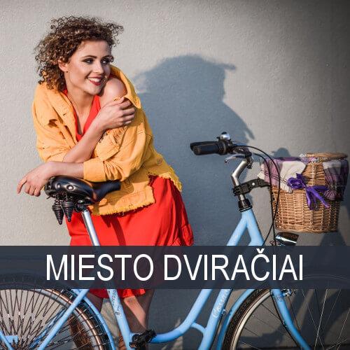 Moteriški miesto dviračiai