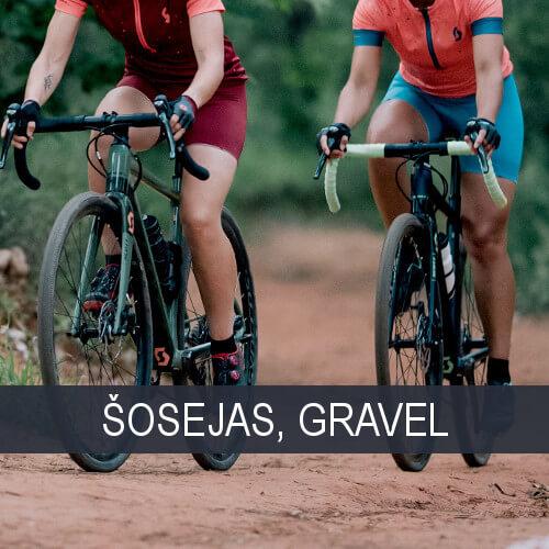 Šosejas un Gravel velosipēdi