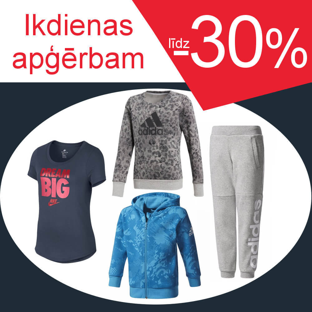 Ikdienas apģērbam -30%