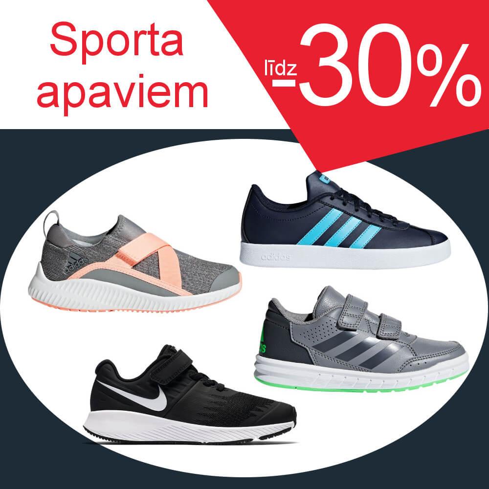 Sporta apaviem līdz -30%
