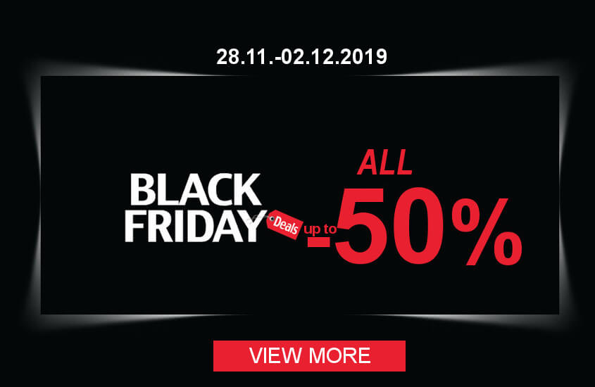 Black Friday sale from 28.11.-02.12.2019