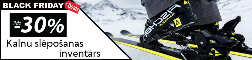 Kalnu slēpošanas inventāram līdz -30%