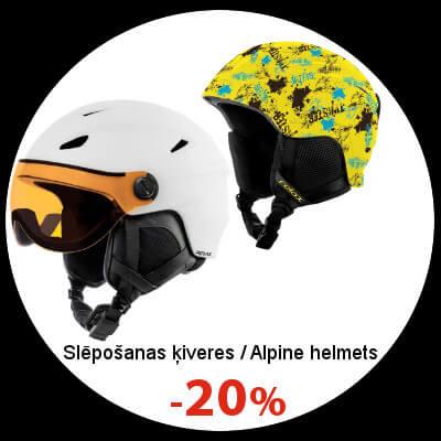 Slēpošanas ķiverēm -20%