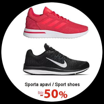 Sporta apaviem līdz -50%