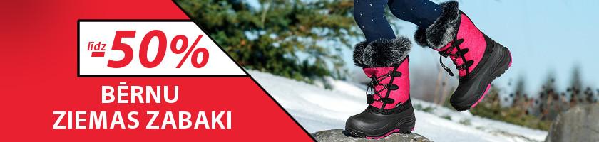 Bērnu ziemas apavu izpārdošana