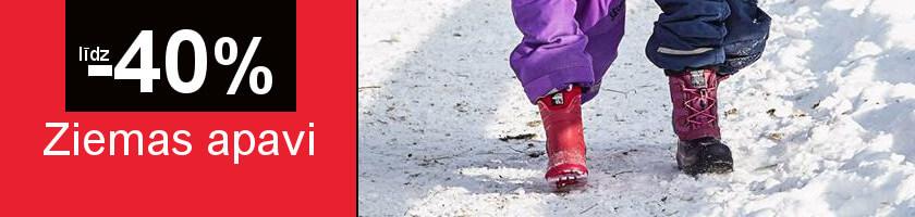 Ziemas apaviem līdz -40%