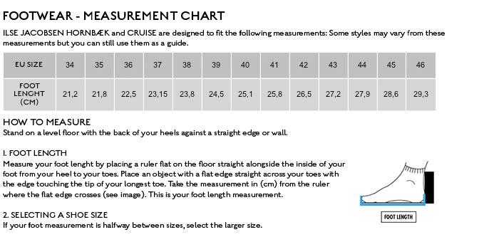 Ilse Jacobsen Size Chart