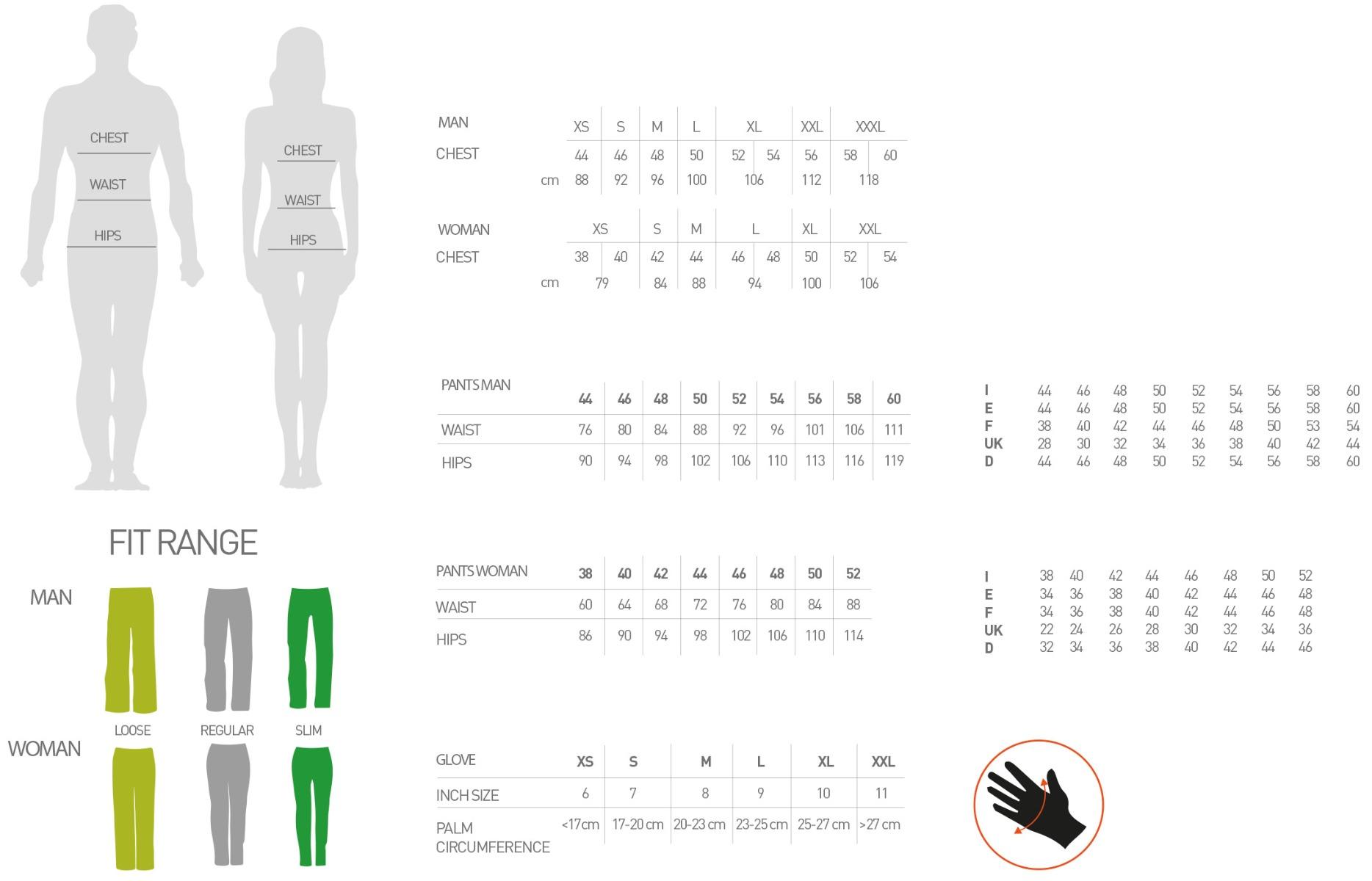 Karpos Size Chart