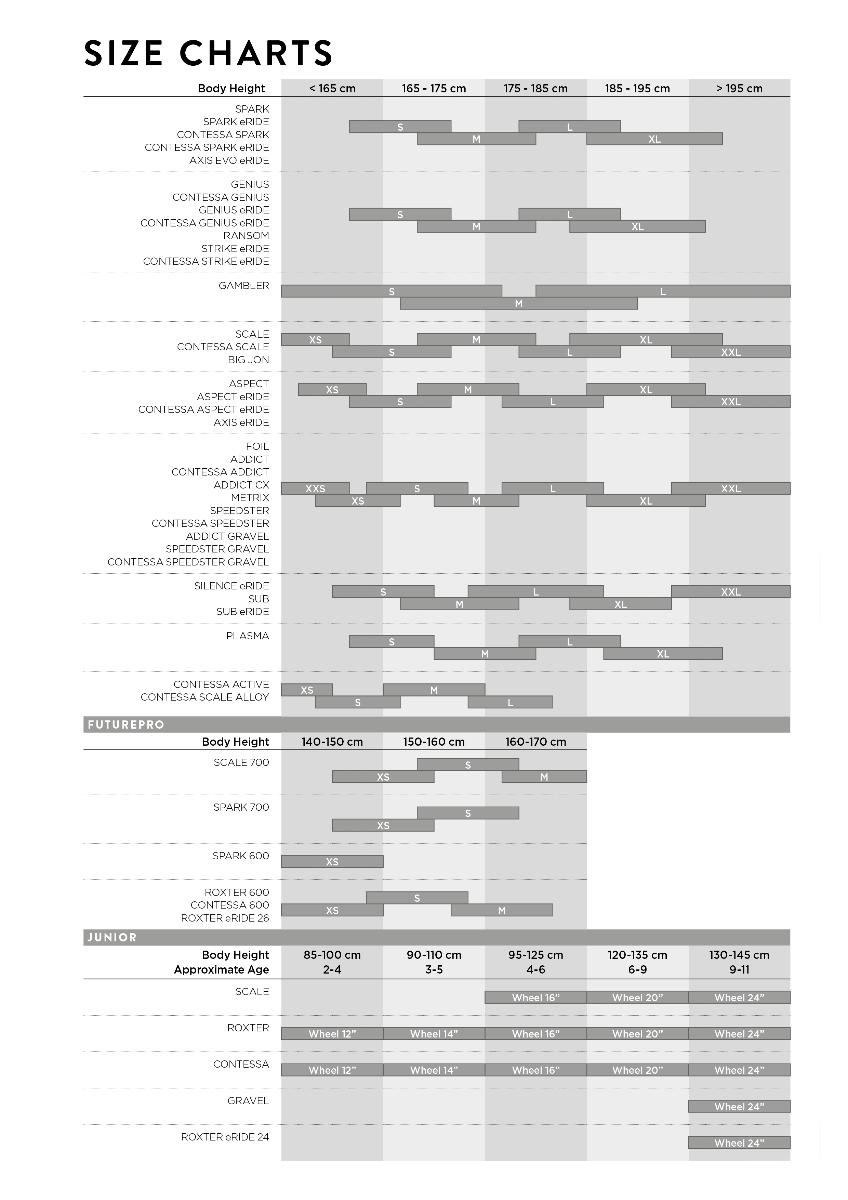 Scott Size Chart
