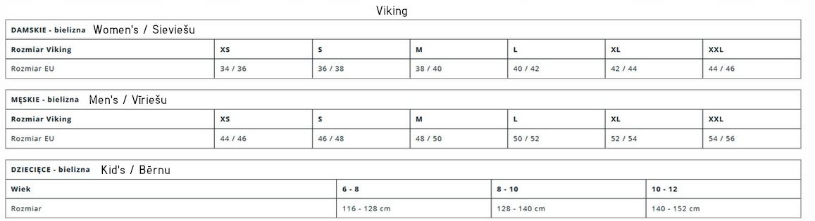 Viking Size Chart