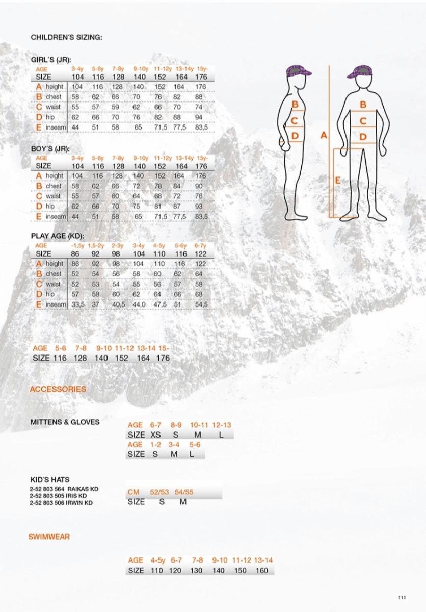 Icepeak Size Chart