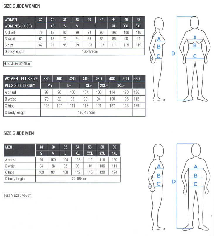 Luhta Size Chart