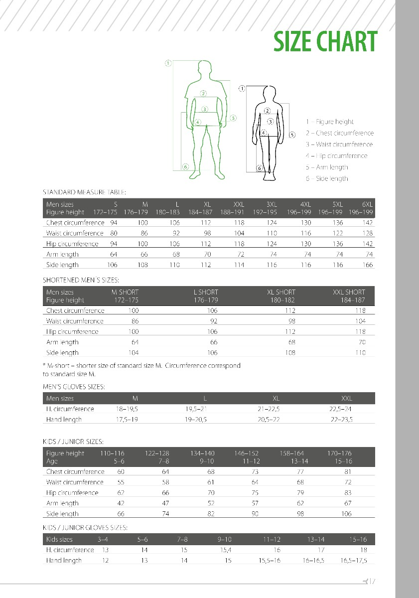 Silvini Size Chart