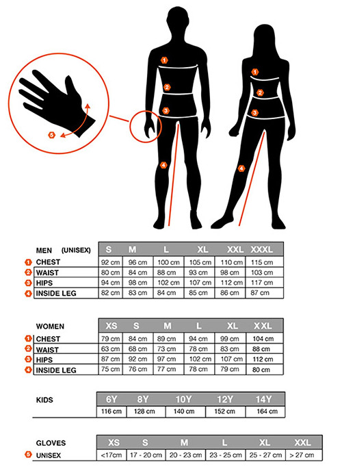 Sportful apparle size chart